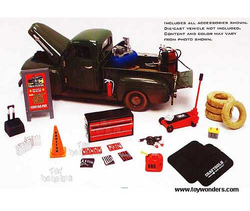 1 24 Scale Garage Accessories http://dev.toywonders.com/productcart/pc/Garage-Diorama-Accessory-Set-Mobile-Mechanic-Series-1-24-18415-95p6650.htm