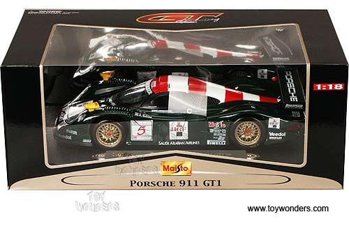 1998 porsche 911 gt1 by maisto 1 18 scale diecast model car wholesale 38873gn. Black Bedroom Furniture Sets. Home Design Ideas