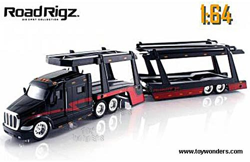 Toy Car Carrier : Peterbilt car carrier truck by jada toys road rigz